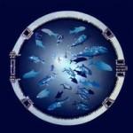 картина сваровски - подводный мир